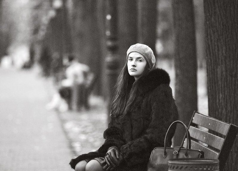 девушка, портрет Dificult dayphoto preview