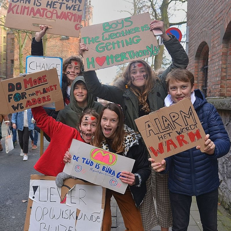 Demonstration against global warming in Leuven(Belgium).photo preview