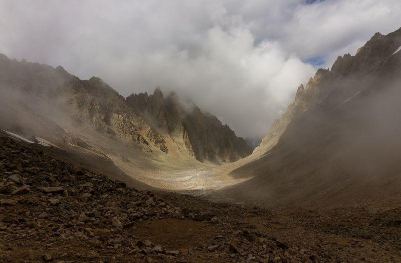 горы, перевал, облака, туман, кавказ туманные миры...photo preview