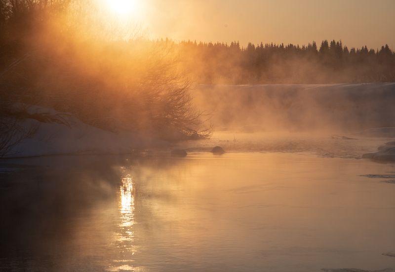 Привет февральский рассвет. photo preview