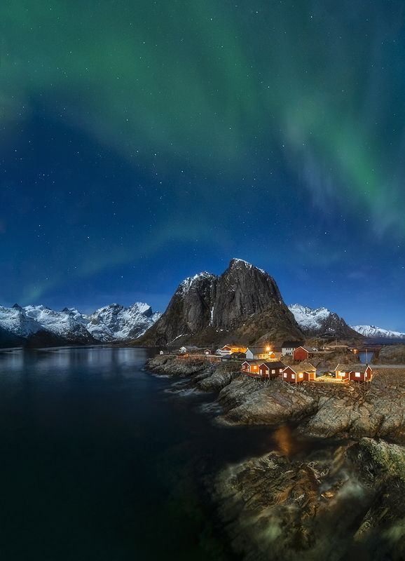 stars, night, norway, lofoten, north, scandinavia Night with starsphoto preview