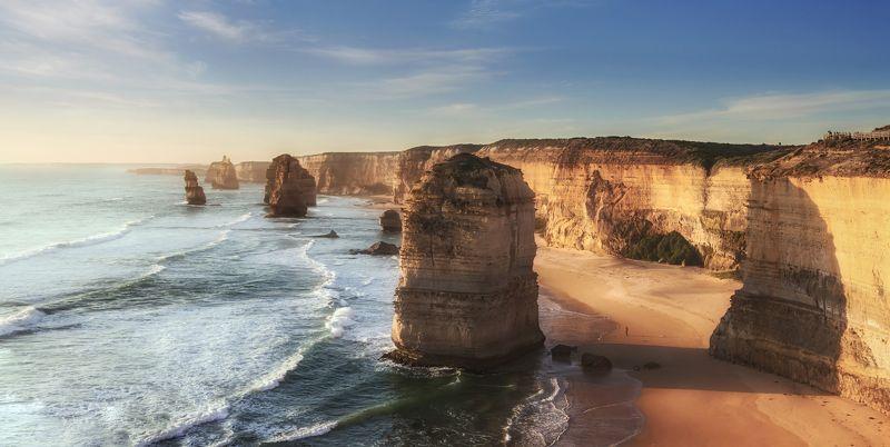 12 apostles, australia , sunset , great ocean road , 243 km,  австралия Закат у 12 Апостолов .  Австралия, Великая океанская дорогаphoto preview