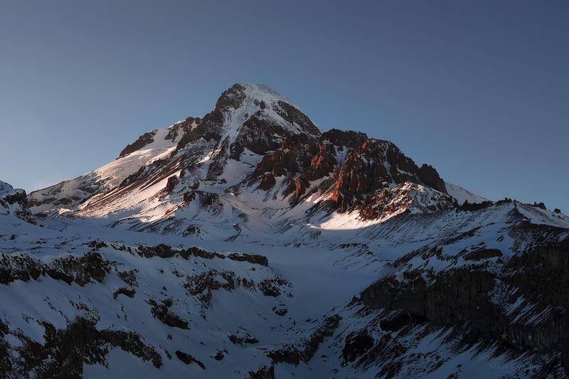 казбек, грузия, горы, кавказ, закат В последних лучахphoto preview