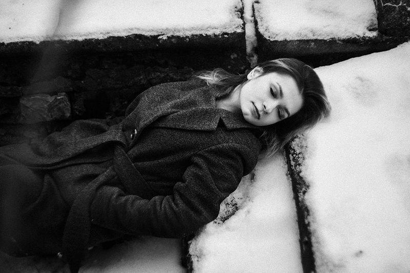 зима, портрет, черно белое, film И р и н аphoto preview