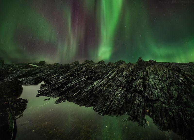 рыбачий, кольский, ночь, аврора Ночь на мысе Кекурскийphoto preview