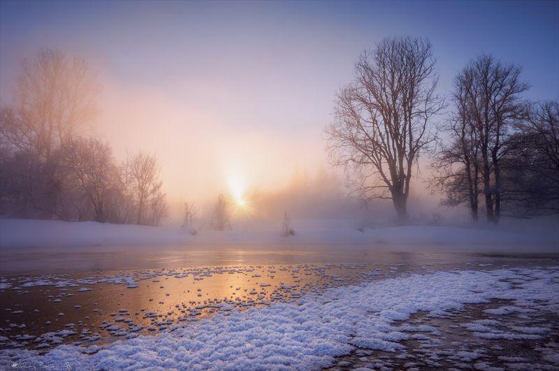 истра, мороз, рассвет Обжигающий рассвет.photo preview