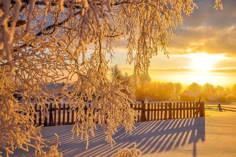 удмуртия, зима, иней,деревня Симфония морозного утра...photo preview