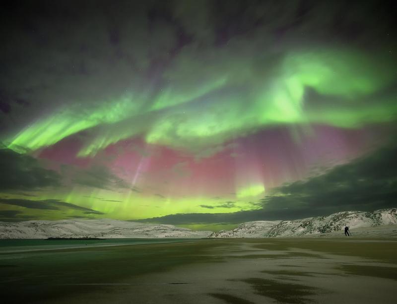 aurora borealis северное  сияние,кольский  полуостров Aurora Borealisphoto preview
