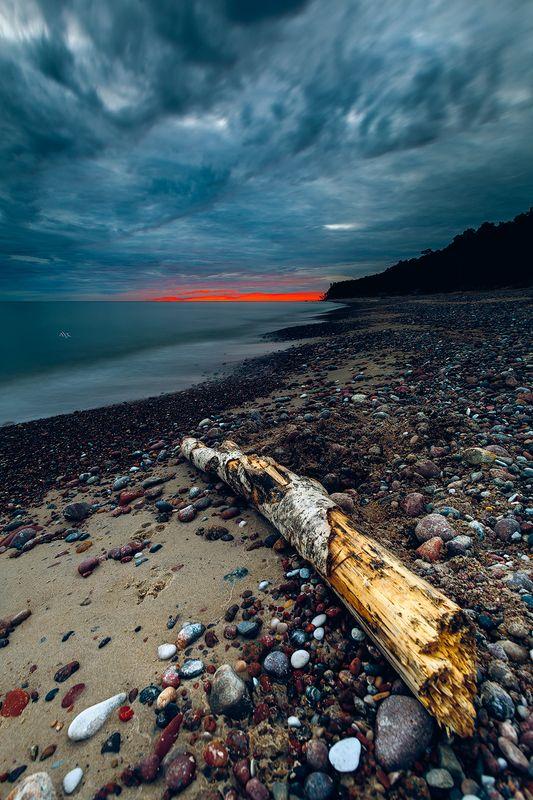 landscape, seascape, baltic sea, sunset Enter Mordorphoto preview