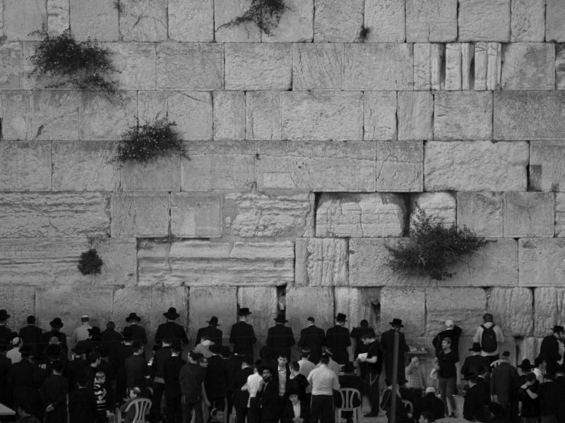Jerusalem, Israel, Black and white, Western Wall, Prayers, Holy, Monochrome It\'s time to prayphoto preview