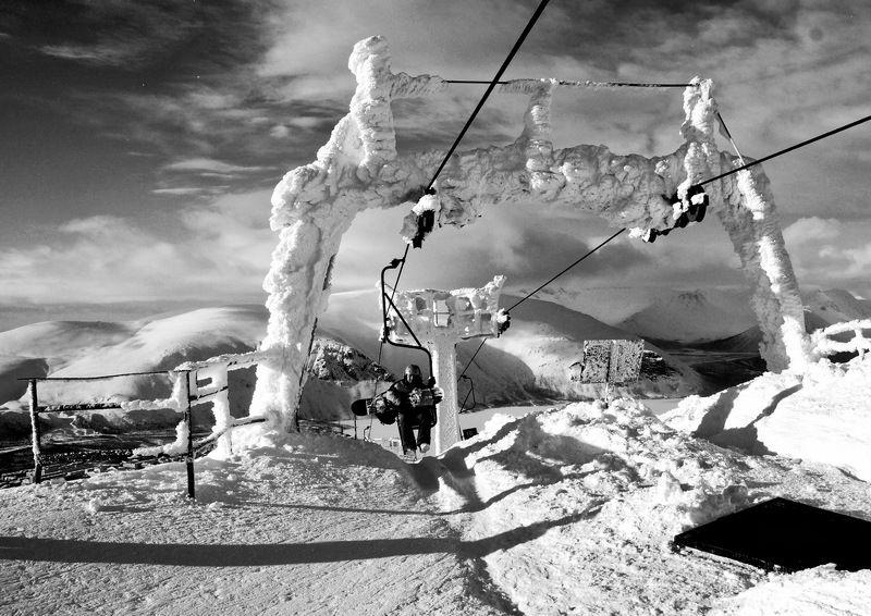 горы, зима, снег, кировск, апатиты Горнолыжный подъёмникphoto preview
