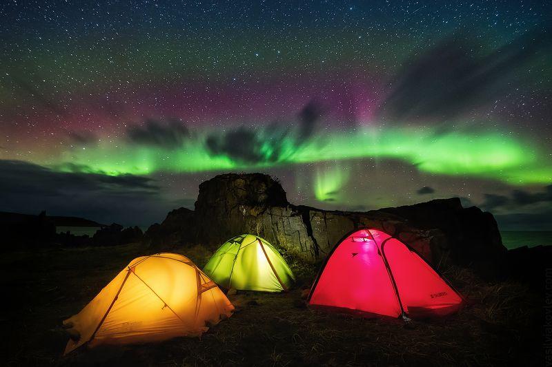 рыбачий, кольский, ночь, аврора Полярный светофорphoto preview