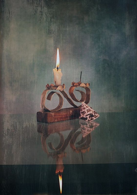 ... ze świecą i muszląphoto preview