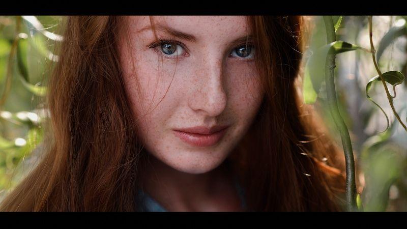 портрет;, девушка;, веснушки;, лето;, глаза;, portrait;, girl;, eyes;, summer Наташаphoto preview