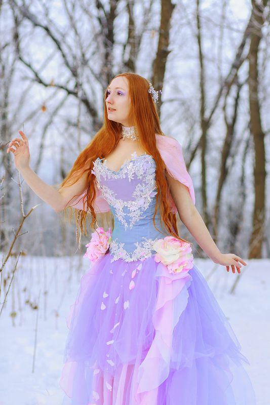 фото фешн девушка рыжая сюрреализм зима Фея зимыphoto preview