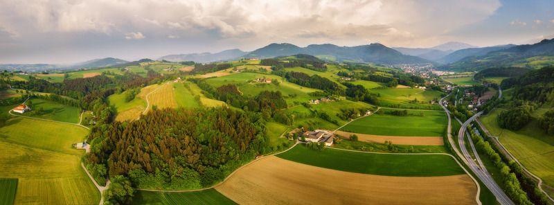 австрия, альпы, весна, вечер, горы, европа, май Проезжая весной по Австрииphoto preview