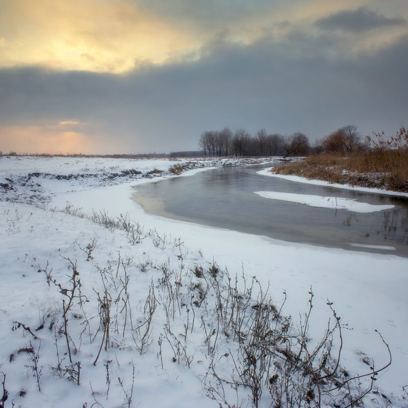зима, волчья, снег, вечер, река, winter, snow, evening, river Зимний вечерphoto preview