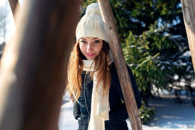 девушка, портрет, зима Наташаphoto preview