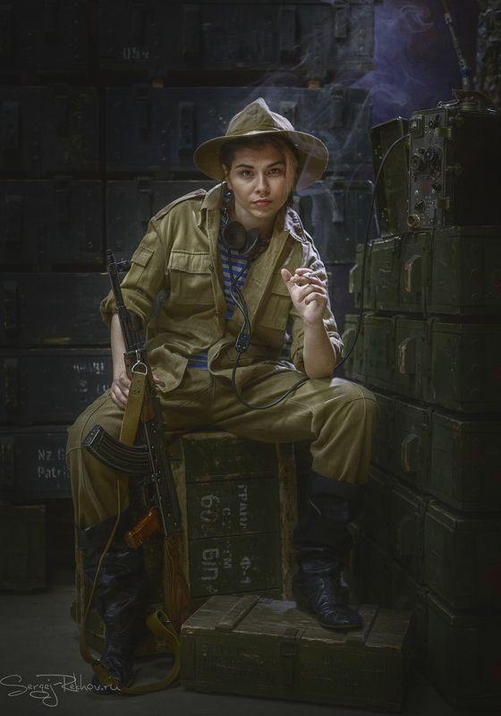 студия цитадель, портрет, девушка, солдат, portrait, rekhov 30-летие вывода Советских войск из Афганистанаphoto preview