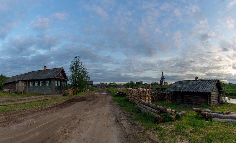 деревня, храм, вологодская Вечер в Саминскомphoto preview