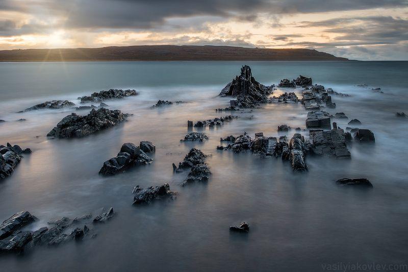 рыбачий, мыс, берег, север, полуостров, кольский Мордорphoto preview