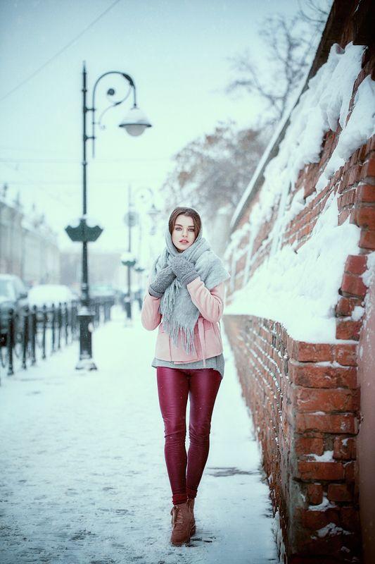 портрет,зима,улица,снег,девушка,Россия,красота, Марияphoto preview