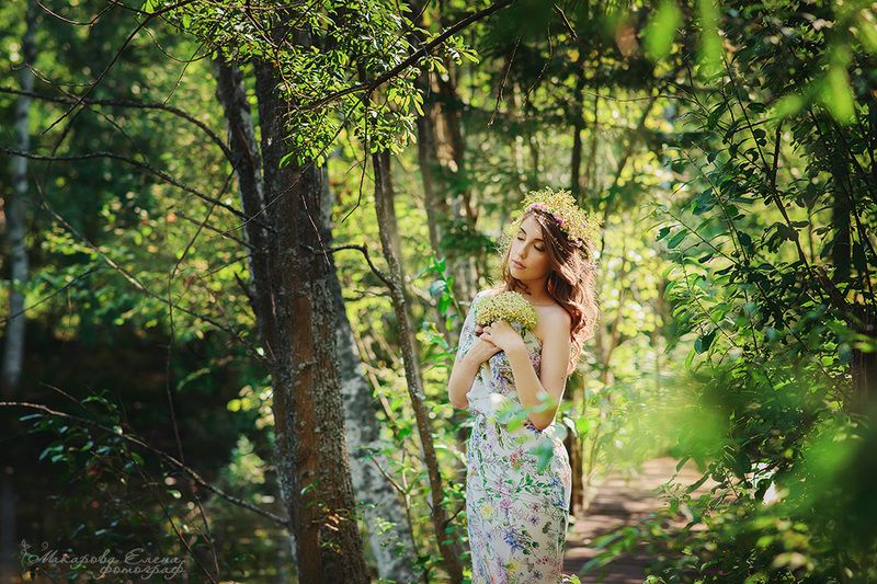 портрет лето лес Лесная нимфаphoto preview