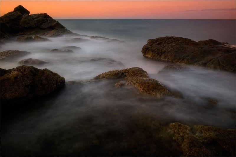 закат, зима, скалы, море,пейзаж До того как мечтатьphoto preview