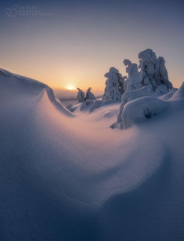 кольский, кольский полуостров, кандалакша, зима, winter, snow, north Закатная нежностьphoto preview