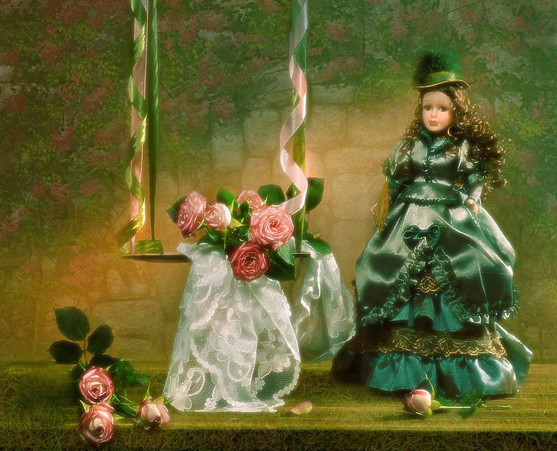still life, натюрморт, цветы, фото натюрморт, февраль, розы, зима,кукла Мне снятся розовые сны...photo preview