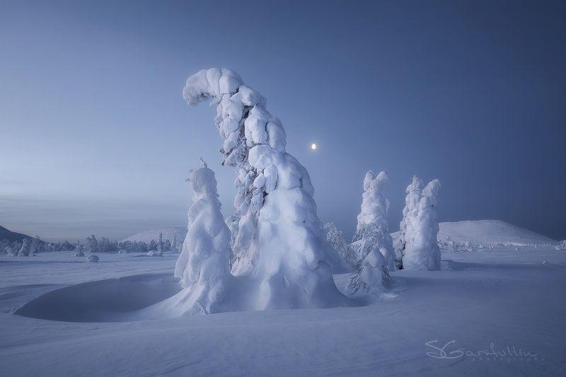 ГУХ, Главный уральский хребет, зимний пейзаж, елки, снег, урал, северный урал Духи Северного Уралаphoto preview