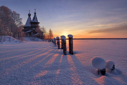Морозное утро в Чёлмужах...
