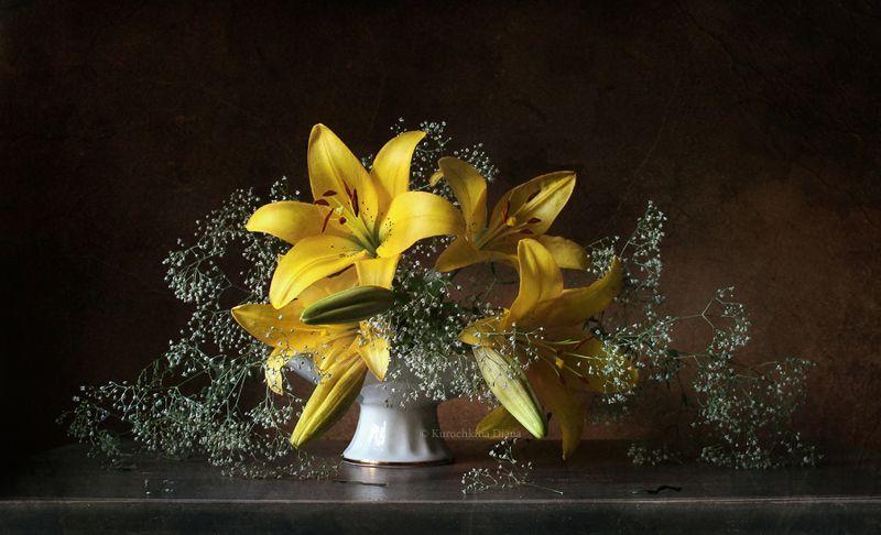 натюрморт, цветы, лилия, желтая лилия Желтая лилияphoto preview
