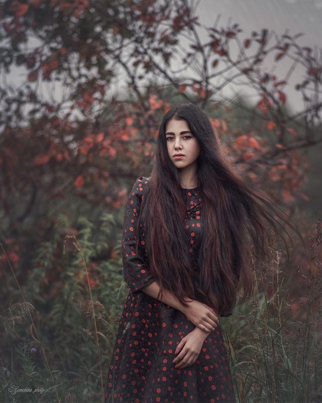 девушка, портрет, дождь, весна, настроение, girl, portrait, mood, rain, spring photo preview