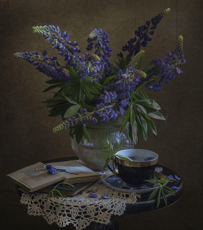 натюрморт,люпины,цветы,букет Летоphoto preview