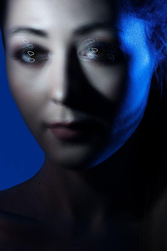 сердце, любовь, синий, свет, смешанный, цветной, фильтр, глаза Сердце в глазахphoto preview