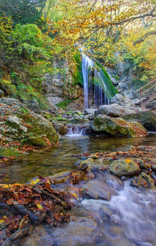 осень  водопад  джур-джур Осенний Джур-Джур.photo preview