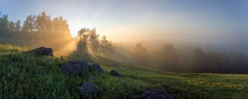 утро, рассвет, восход, туман, лучи Доброе утроphoto preview
