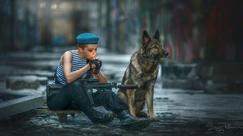 девушка, собака, портрет, portrait, rekhov Перекурphoto preview