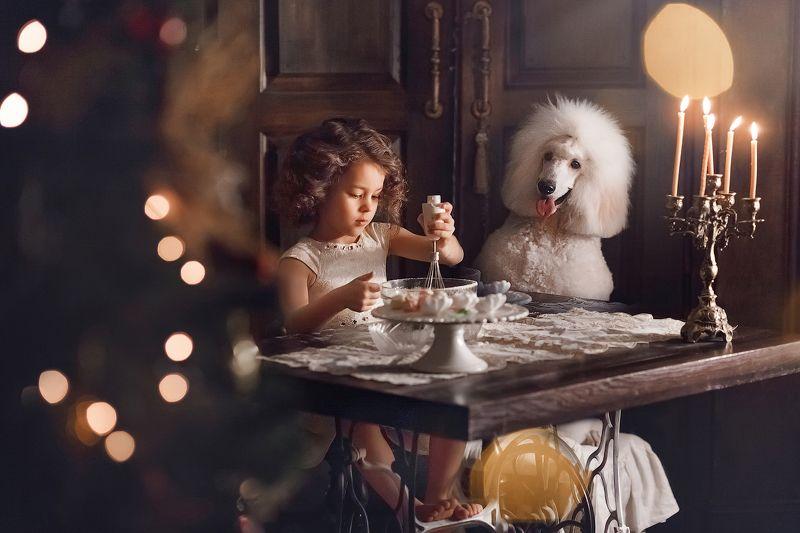 дети, собака, девочка Сюрприз для мамыphoto preview