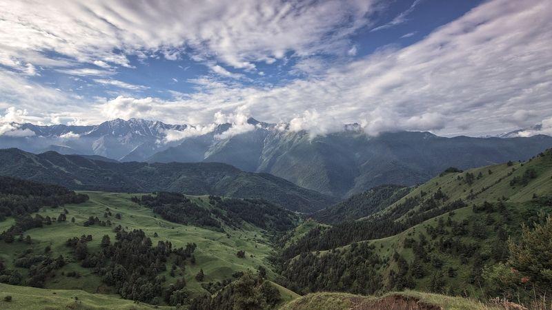 кавказ,горы,облака,заповедник,девственная красота. Эрзи.photo preview