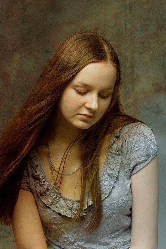 портрет,грустной,девушки Светлая грусть...photo preview