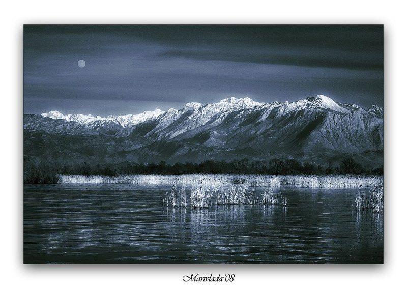 озеро, горы, луна, настроение ***photo preview
