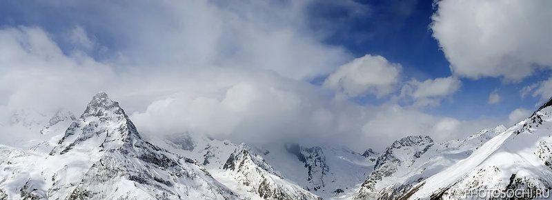 горы, зима, снег, домбай Домбайphoto preview