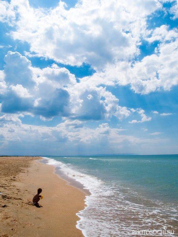 лето, море, облака, черное море, таманский полуостров, пляж летняя 3photo preview