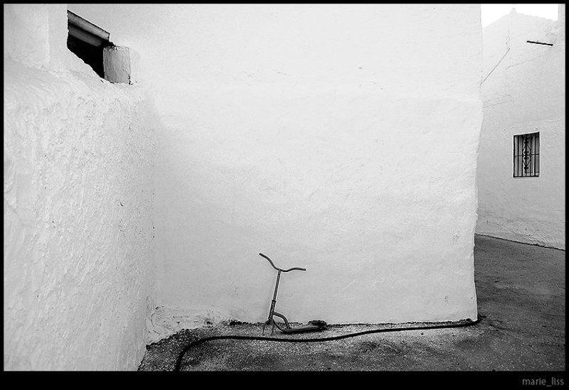 самокат, город, стены, испания, spain, nerja photo preview