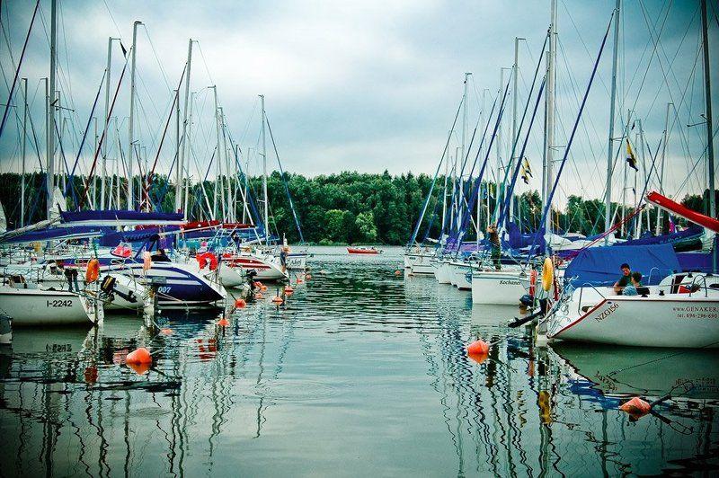 яхты, озеро, вода, польша, миколайки Из жизни яхт. Дубль два.photo preview