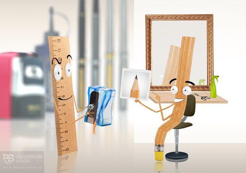 линейка карандаш парикмахерская Ну что-с, начнем!!photo preview