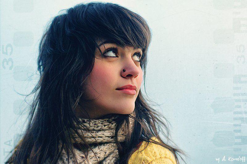 девушка, взгляд, волосы, портрет, 35 35mm..photo preview