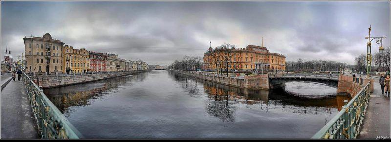 питер михайловский замок Взгляд с Пантелеймоновского мостаphoto preview